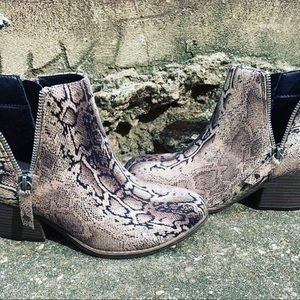 Snake Booties Size 8